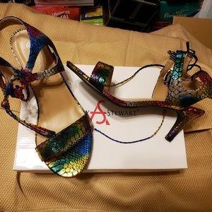 Ashley Stewart Multicolor Sandals Sz. 9W